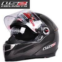 Wholesale 100 Genuine LS2 FF396 CT2 Carbon Fiber Casco Motorcycle Racing Air Pump Helmet Built In Len