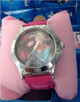 Wholesale frozen watch kids fashion quartz cartoon Jelly Candy led with box Cute Lovely Girl woman lady