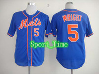 Wholesale 2014 Hot Mets David Wright Baseball Jerseys for Men High Quality Embroidery Cool Base New York Team New Jersey Breathable Cheap Jerseys