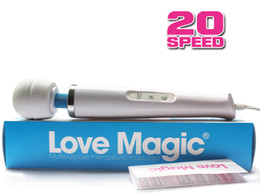 Wholesale 20 Speed Magic Wand Massager with Hitachi Head AV Wand Vibrator Powerfull Vibration HandHeld Full Body Massager Sex Toys V