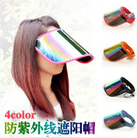 Wholesale 2014 Hot Sale UV Visors Sun hat Outdoor Sunshade cap Summer cycling riding caps Men and women adjustable Empty top Sun hat Colors in Stock
