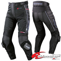 Wholesale New KOMINE the PK708 net pants racing pants motorcycle pants riding pants in summer Black color with protecive gear