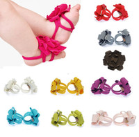 Wholesale 10 pairs FASHION top baby Foot flower Baby Sandals Barefoot Sandals Baby Shoes Toddler Shoes Color