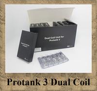 Wholesale Protank KangerTech Atomizer coil portank Clearomizer Dual coil electronic cigarette e Cig ohm wick hot sale