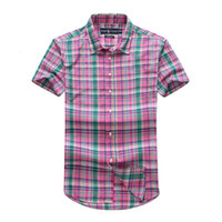 Men Long Sleeve 100% Cotton 2014 New Polo Shirt Classic Plaid Men's Short Sleeve Shirts Cotton Men Dress Brand Shirt Free Shipping