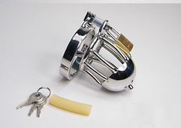 Wholesale Top quality chastity lifestyle Small Metal Crafts Male Chastity Device Cock Cage steel Sex Toy chastity men male chastity now