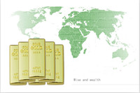Wholesale Latest price Bullion Gold Bar USB Flash Memory Drive Stick U disk GB Pen drive U disk Iron box