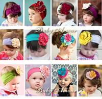Headbands Blending Solid 10pcs lot New TOP BABY Crochet Flower Hair Bow Clips Headband Barrette Caps Baby Headdress Head Band.