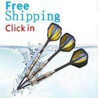 Wholesale 21 grams set steel tip darts professional iron dart wish aluminum alloy shaft needle darts box high quality