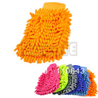 Wholesale New Hot Sale Car Wash Glove Microfiber Chenille Auto Cleaning Cloth Chenille Car Cleaning Glove Drop shipping