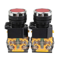 60621 As picture show High quality R1B1 2Pcs Red 4 Terminals Push Button Momentary Press Switch Heavy Duty Power