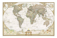 Totes Unisex Plain 2013 Vintage Style Archaize Exquisite Canvas World Map Word that on the map is English 130*90cm