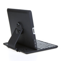 Wholesale For new iPad Rotation ABS Keyboard Case Cover With Stand Wireless Bluetooth Keyboard