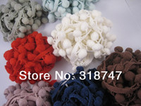 Wholesale 14 yards Mixed color Pompoms Pom pom garland Craft material Diy toys Early educational toys