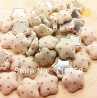Buttons beige Eco-Friendly,Dry Cleaning,Washable,Nicke 16mm Flatback Dots print cloth covered button star-shaped fabric covered buttons BGE 30pcs lot hairbow accessories Free shipping