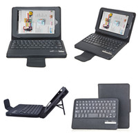7'' For ASUS For Ipad 2/3 Black Removable Wireless Bluetooth Keyboard PU Leather Case Cover or Barnes Noble Nook HD 7