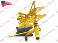 Wholesale MAD MOTO Kawasaki ZX6R foot pegs rear set gold color