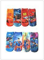 Wholesale New Arrival Four Season Children Sock Car Superman Cartoon Design Socks Polyester Cotton Childs Ankle Stockings pair dozen G0194