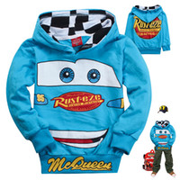 Wholesale Retail Fashion kids boys hoodies Children s Cartoon Cars T shirt Sweatshirt car children hoody clothing