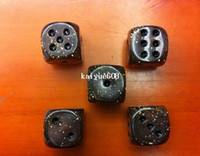 Wholesale 16 MM Fashion Coffe Color with point Acryl Gambling and Game dice u0026 Coffe