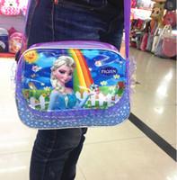 Wholesale 1405c Girls Frozen bags Children Fashion Cartoon Small shoulder bags children day s gift children frozen purse