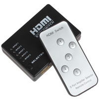Wholesale 5 to Mini Ports HDMI Amplifier Switcher amp P HD Video Converter with Remote Control
