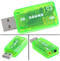 Wholesale Many Color USB External Virtual Channel D Audio Sound Card Adapter For Laptop PC Accessories