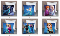 Wholesale Factory Price Styles Frozen Elsa Anna Olaf Sven Hans Pillow Case Cover Car Bed Sofa Cushion for Children Girl x16inch CW0133