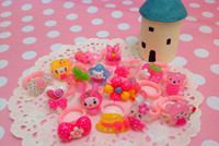Wholesale Cartoon Children s Rings Lovely Jewelry Childhood Fashion Ring Mix Styles