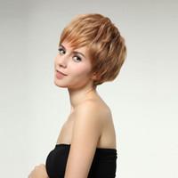 Wholesale Stylish MAYSU Short Wavy Wig Women Blonde Full Curly Hair Wig