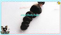 Wholesale Gorgeous Peruvian Loose Wave Weft Virgin Remy Human Hair Extensions by DHL