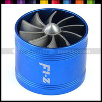 Handlebars Air Intakes Guangdong China (Mainland) F1-Z Blue Auto Car Single Turbo Air Intake Fuel Gas Saver Fan Ventilator #2456