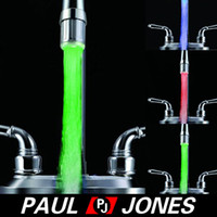 Wholesale Colors Temperature Sensor Water Tap Faucet hydrant Glow Shower Colorful LED Light O