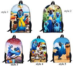 Wholesale New Cute Students School Bag Children Cartoon Rio Backpacks Double Shoulder Bag Boys Kids Rio Backpack CW0132