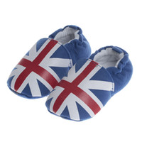 Wholesale Fashion UK Style Flag Pattern Soft Cotton Baby First Walker Shoes Infant Booties Boy Girls Babies Shoes High Quality