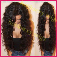 Wholesale 2014 new virgin brazilian hair curly front lace wig amp glueless full lace human hair wigs for black women
