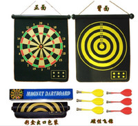 Wholesale Safety magnetic dart board darts sided flocking target children s paternity suit Hot snapped six dart in