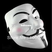 Wholesale New V For Vendetta Anonymous Movie Guy Fawkes Vendetta Mask Halloween Cosplay