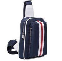 Wholesale 2014 New Fashion Men s Leisure Chest Bags Waist Bags Nylon Canvas Cross Body Ipad Bags Unisex Shoulder Bags MM75