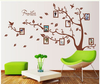 Removable PVC Plant free shipping large wall sticker 200*250cm finished size family photo frame tree wall stickers for bedroom,dining room home decoration