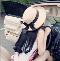 Wholesale Korean Version Of Straw Hat Woman Sun Hat Beach Summer Large Brimmed Big Floppy Hat