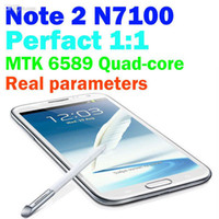 """35Phone 5.3 Android Wholesale - N7100 5.3"""" Android 4.2 Phone Dual SIM MTK6572 Dual Core WiFi Bluetooth Camera hdc efit Cheap Unlocked Note II 2 Smart Mobile Cel"""
