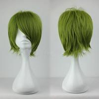 Green Short Boy Cheap 32cm Short Kuroko no Basuke-Midorima Shintaro Army Green Anime Cosplay Wig