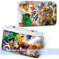 Wholesale new product hot sell lego marvel superheros case for DS XL housing for DS LL case cover can mix design a By DHL or EMS