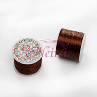 brown elastic cord - Neitsi Meters Brown Crystal Beads Lines Elastic Cord Stretchy String Jewellery Cord Rolls Polyester Embroidery Sewing Thread