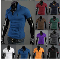 Wholesale 2015 new fashion men s Polos Europe and the United States style male printing short sleeve Polos