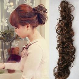 Wholesale New Fashion Women Lady Clip on Dish Hair Bun Tray Ponytail Extension Hairpiece Scrunchie Wig caterpillar clockwork curl L04079