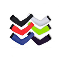 Wholesale 2014 New Pro Cycling Bicycle Riding Arm Warmers Custom Designs Outdoor Sports Lycra Breathable Sunscreen Arm UV Protector Colors