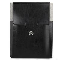 Wholesale d park Vintage Envelope Sleeve Pouch Bag Genuine Leather Case For Macbook Air13 Retina Pro13 Pro inch