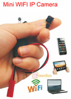 Wholesale WIFI IP Wireless P Mini Spy Remote Surveillance Camera Security For WINDOWS XP Android iphone IOS6